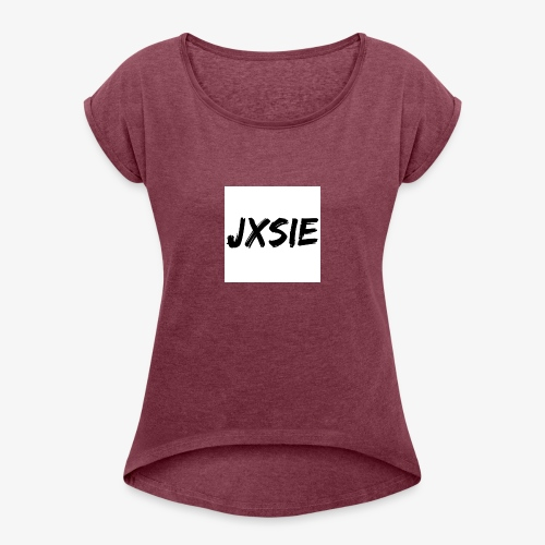 JXSIE - Women's T-Shirt with rolled up sleeves