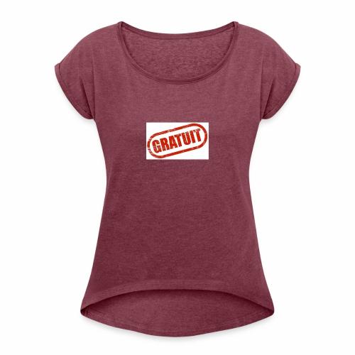Logo Gratuit - T-shirt à manches retroussées Femme