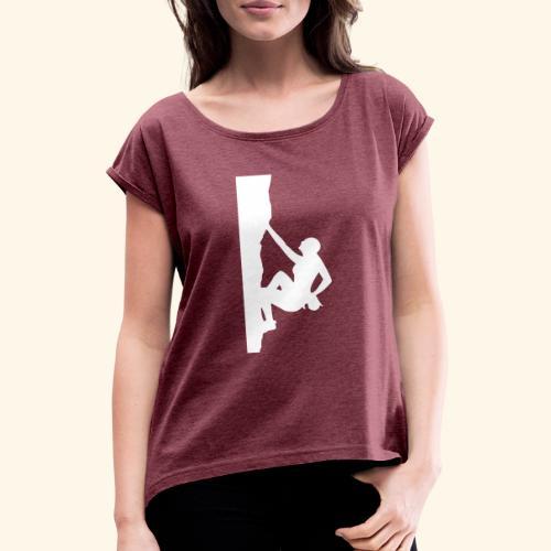 Frauenversion 1 - Frauen T-Shirt mit gerollten Ärmeln