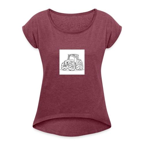 tracteur 1 - T-shirt à manches retroussées Femme