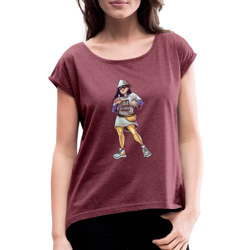 Freiburg | Gold School - Straight outta FRBG - Frauen T-Shirt mit gerollten Ärmeln