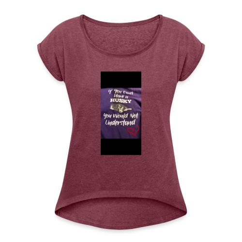 Husky - T-skjorte med rulleermer for kvinner