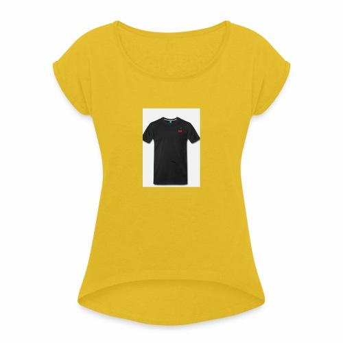 A9734B69 6CA7 44D2 9136 00D52CFB11F4 - Vrouwen T-shirt met opgerolde mouwen