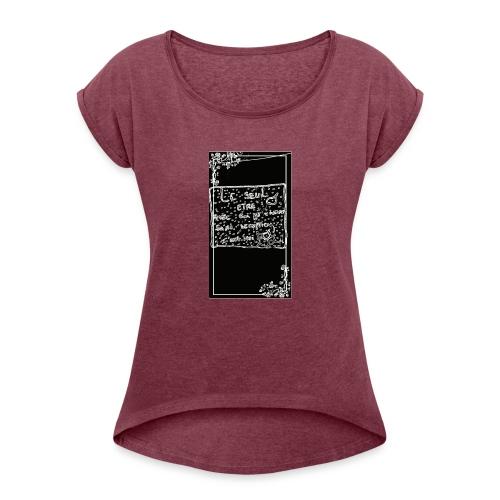 Chalver - T-shirt à manches retroussées Femme