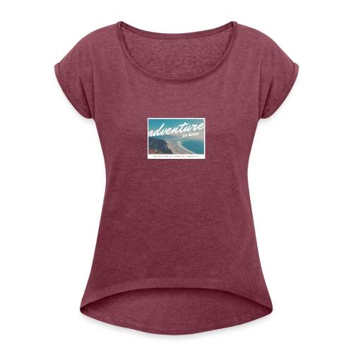 Reisen - Frauen T-Shirt mit gerollten Ärmeln