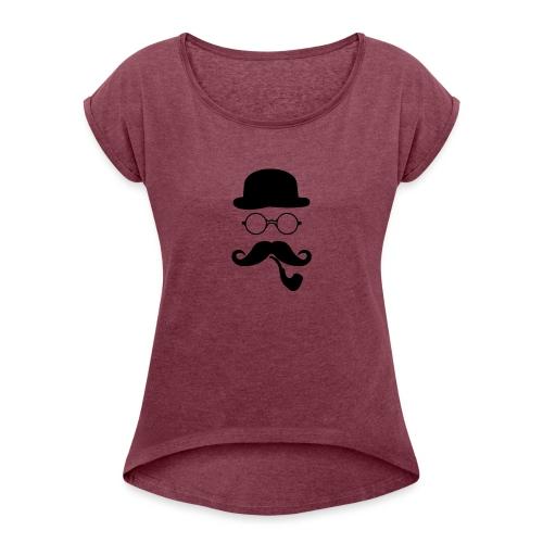 L' inconnus - T-shirt à manches retroussées Femme