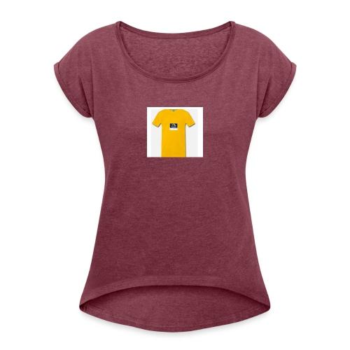 stream games - Vrouwen T-shirt met opgerolde mouwen