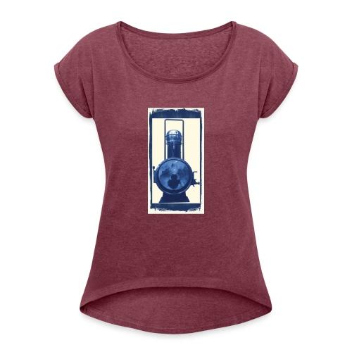 Lok Lantern - Naisten T-paita, jossa rullatut hihat