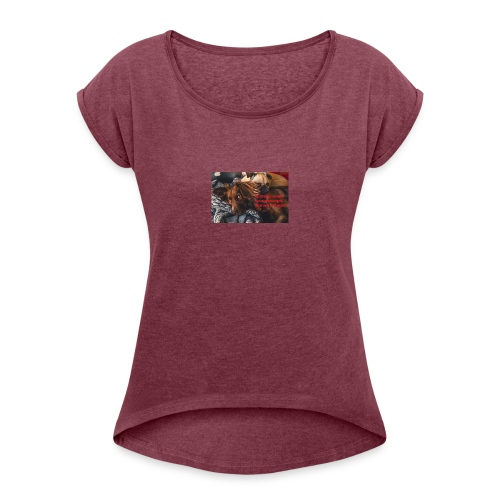 best friends - Women's T-Shirt with rolled up sleeves
