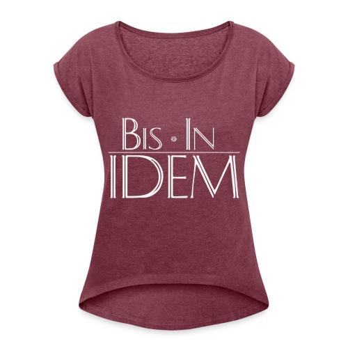 bis in idem WHITE png - T-shirt à manches retroussées Femme