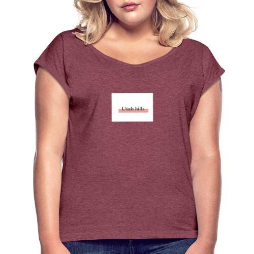 Utah hillss - Dame T-shirt med rulleærmer
