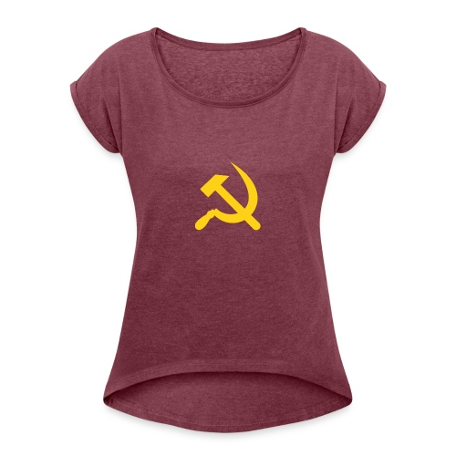 Soviet Union - Vrouwen T-shirt met opgerolde mouwen