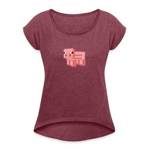 Grise-Ting - T-skjorte med rulleermer for kvinner