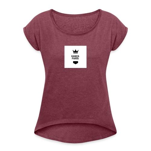 kanza paris - T-shirt à manches retroussées Femme