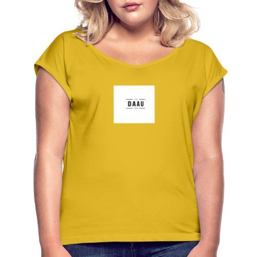 DAAU FIRST TRY - Camiseta con manga enrollada mujer