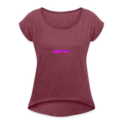 Abot07 - T-shirt med upprullade ärmar dam