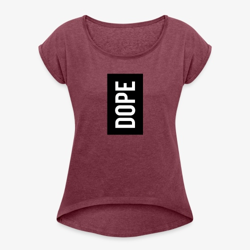 dope letter - Camiseta con manga enrollada mujer