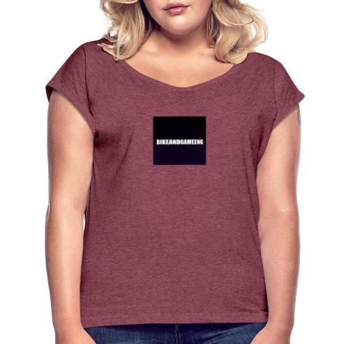 oliver - T-shirt med upprullade ärmar dam