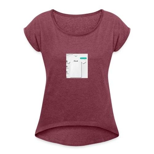 Zuerst Gesegnet - Frauen T-Shirt mit gerollten Ärmeln