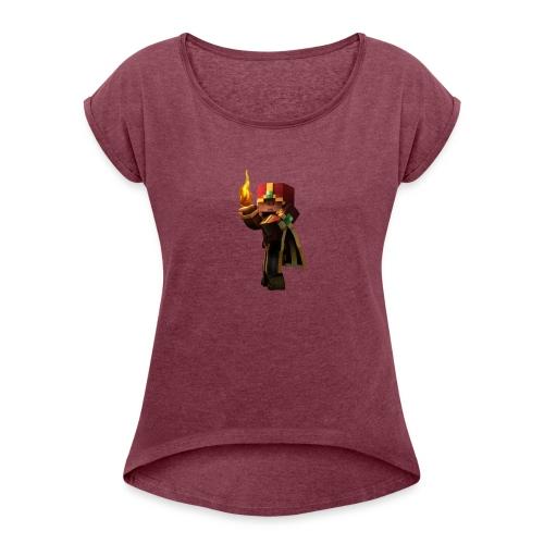 Musmatta - T-shirt med upprullade ärmar dam