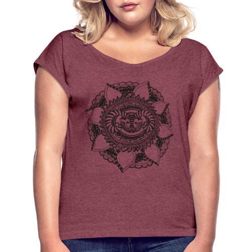 Widder - Frauen T-Shirt mit gerollten Ärmeln