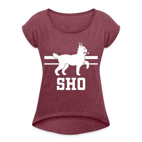 SHO Häme - Naisten T-paita, jossa rullatut hihat
