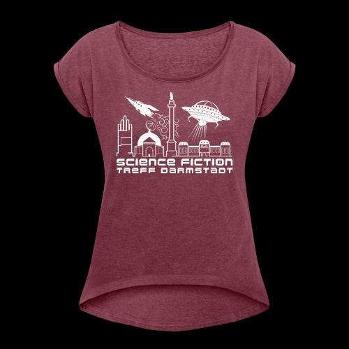 Science Fiction Treff Darmstadt - Frauen T-Shirt mit gerollten Ärmeln