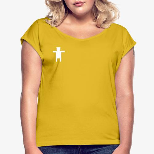 Women's Pink Premium T-shirt Ippis Entertainment - Naisten T-paita, jossa rullatut hihat