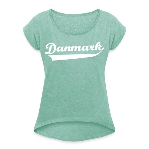Danmark Swish - Dame T-shirt med rulleærmer