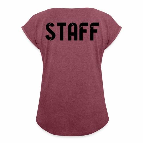 STAFF - T-shirt à manches retroussées Femme