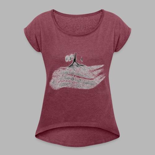 zwiebel_blätter - Frauen T-Shirt mit gerollten Ärmeln