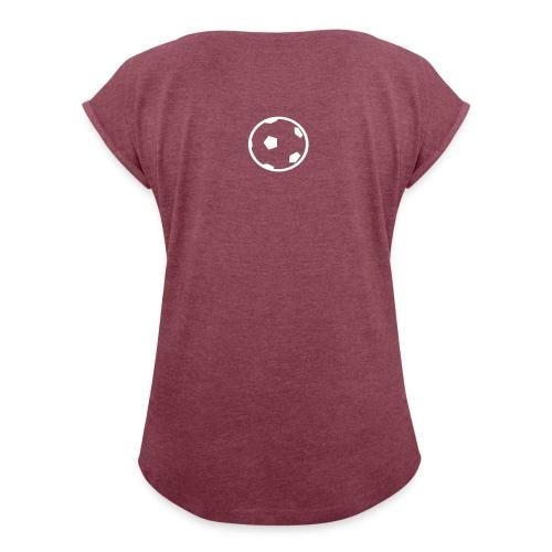 Unterwasser-Rugby Ball - Frauen T-Shirt mit gerollten Ärmeln