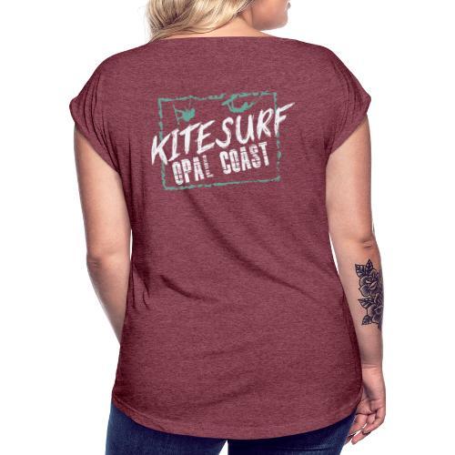 kiteSurf Opal Coast - T-shirt à manches retroussées Femme