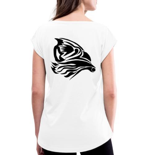 Aigle Abstrait - T-shirt à manches retroussées Femme