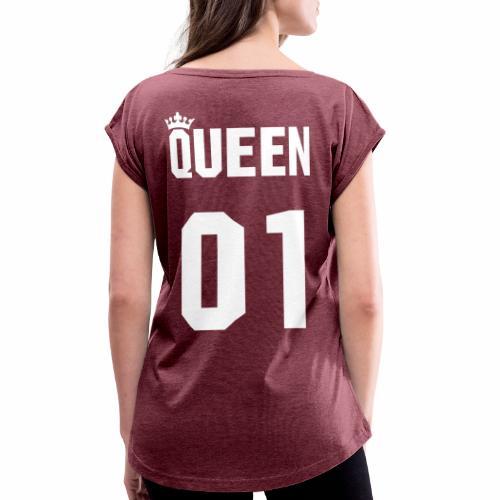 The Queen - Frauen T-Shirt mit gerollten Ärmeln