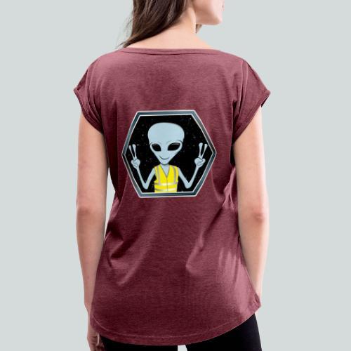 Extraterrestre Gilet jaune - T-shirt à manches retroussées Femme