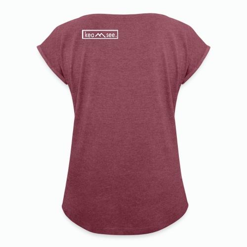 Logo Keamsee transparent - Frauen T-Shirt mit gerollten Ärmeln