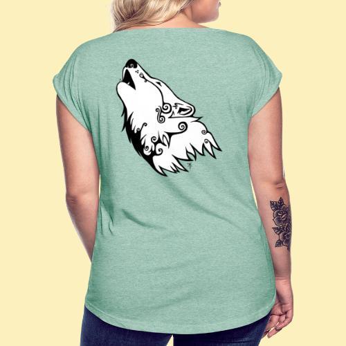 Le Loup de Neved (version blanche) - T-shirt à manches retroussées Femme