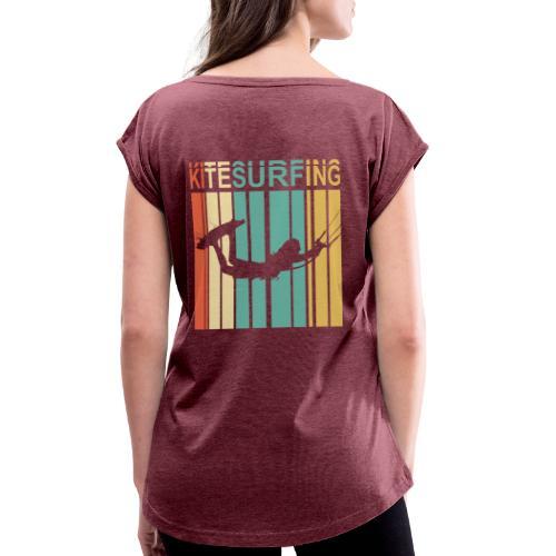Kitesurfing - T-shirt à manches retroussées Femme