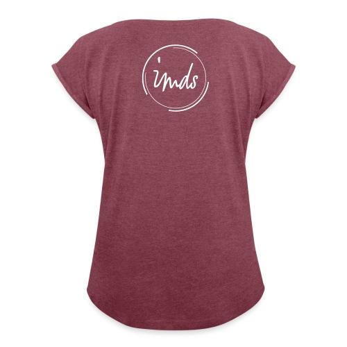 logo signature blanc - T-shirt à manches retroussées Femme