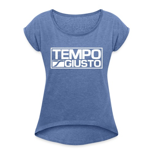 Tempo Giusto Rectangle - Women's T-Shirt with rolled up sleeves