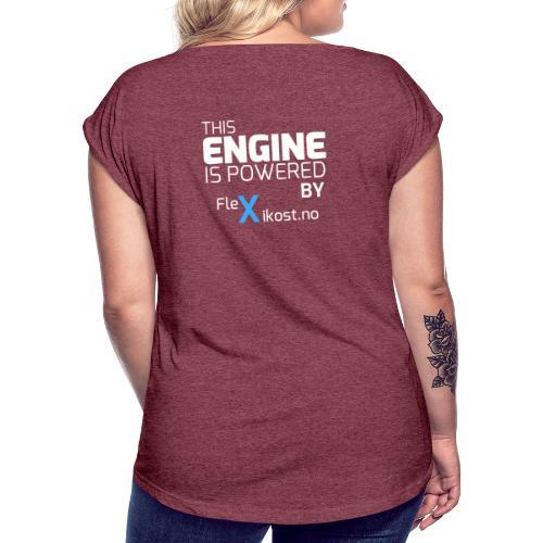 this engine - T-skjorte med rulleermer for kvinner