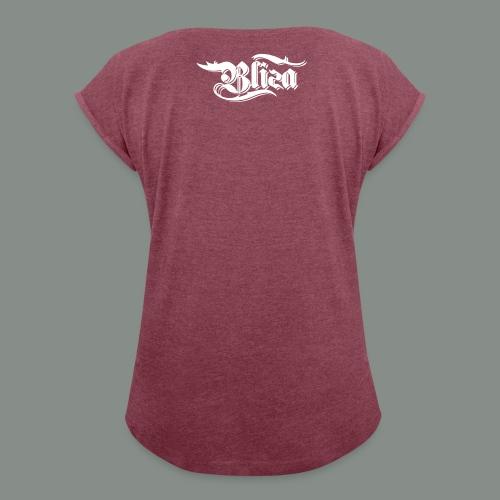Weiß Spezial png - Frauen T-Shirt mit gerollten Ärmeln