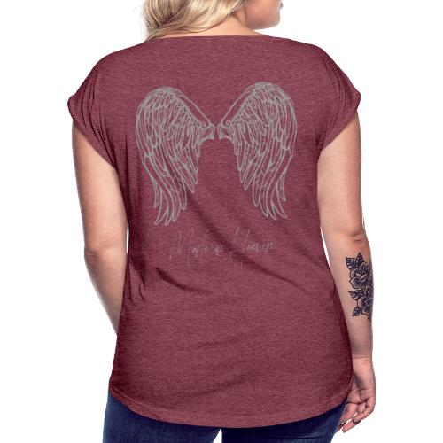 heaven - Camiseta con manga enrollada mujer