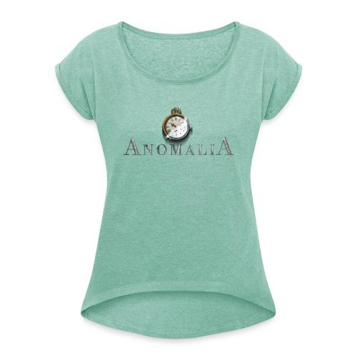 Anomalia Logo - Frauen T-Shirt mit gerollten Ärmeln