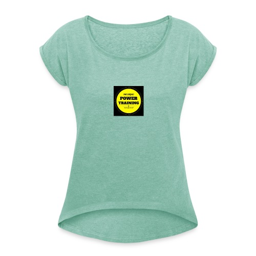 POWER TRAINING - T-shirt à manches retroussées Femme