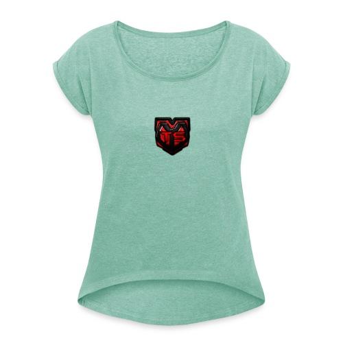 TS Merch - Frauen T-Shirt mit gerollten Ärmeln