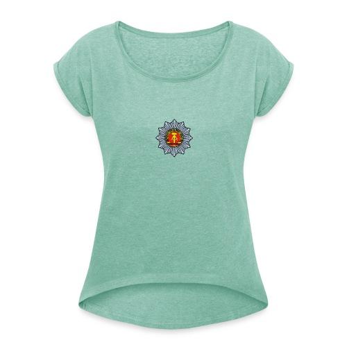 DDR-mobile Edition VP - Frauen T-Shirt mit gerollten Ärmeln