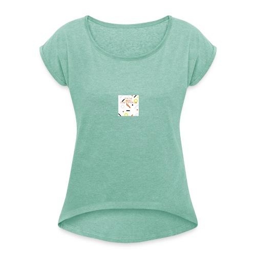 Fresh Mind Streetwear, First Try Art Shirt - Frauen T-Shirt mit gerollten Ärmeln