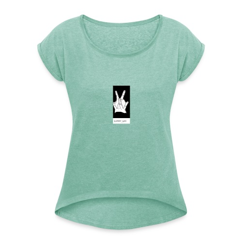 Bro Zeichen Luperf Leo - Frauen T-Shirt mit gerollten Ärmeln